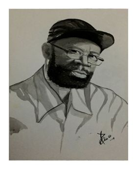 Beres Hammond Ink Sketch (Loose Paper Print)