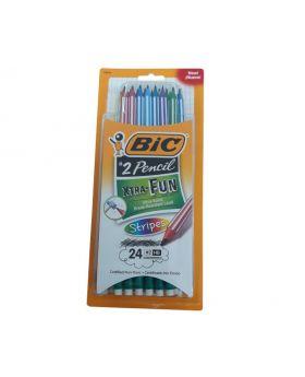 Bic 24 Extra Fun #2 Pencils