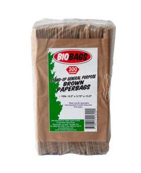 Biobags 10 lbs. Brown Paper Bags 300 Count