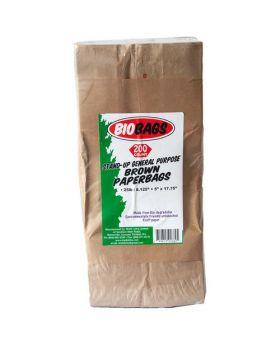 Biobags 25 lbs. Brown Paper Bags 200 Count