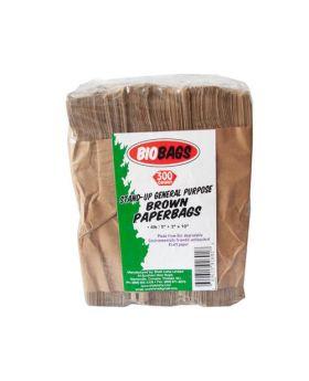 Biobags 4 lbs. Brown Paper Bags 300 Count
