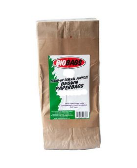 Biobags 60 lbs. Brown Paper Bags 100 Count