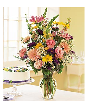 Birthday Pastels Floral Arrangement