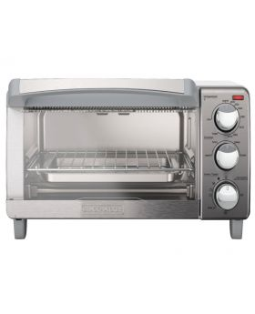 Black and Decker TO1760SS 4 Slice Toaster Oven, Stainless Steel with Natural Convection
