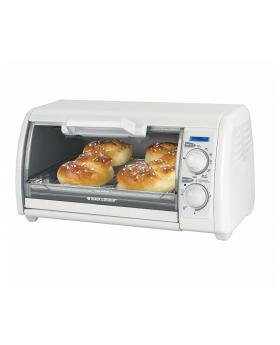 Black & Decker 4 Slice Toaster Oven, White