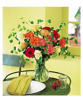Blossoming Orange Floral Arrangement