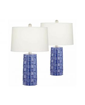 Blue Table Lamps (Set of 2)