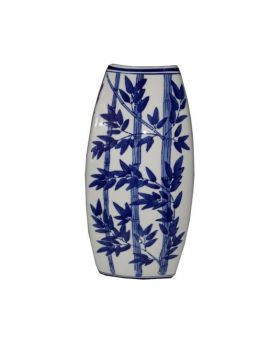 Blue Porcelain Chinoiserie Collection-Bamboo Vase