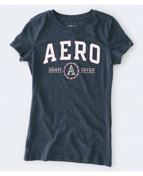 Aeropostale Female Graphic Tee - Navy Blue