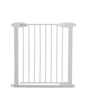 Boston 29.5-32.5in Auto Close Metal Baby Gate w/ EZY-Check Indicator - White