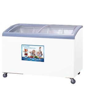 Blackpoint Elite BP13.65FZ-GD-CUR 13.65 Cu. Ft. Curved Lid Ice Cream Display Freezer