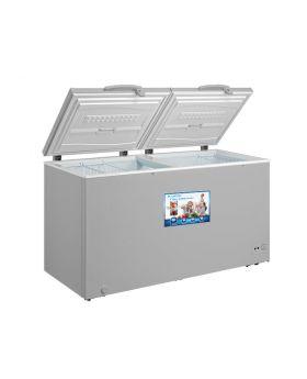 Blackpoint BP18.1FZG 18.1 Cu. Ft. Grey Commercial Double Door Chest Freezer