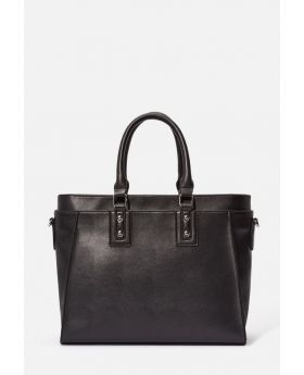 Brad Satchel Black Handbag