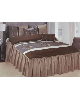 Private Collection 5 Pieces Luxury Embroidery Bedspread Set- Bradsham