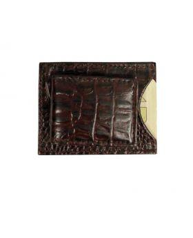 Brown embossed money clip