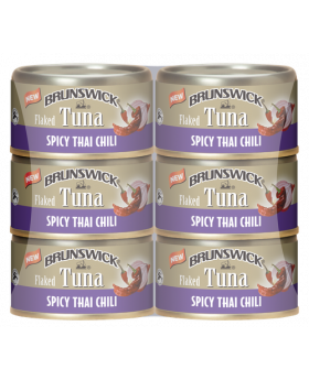Front-view-of-Brunswick-Flaked-Tuna-Spicy-Thai-6x85g