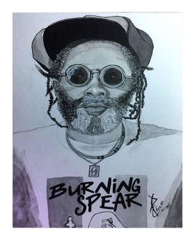 Burning Spear Ink Sketch (Loose Paper Print)