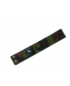 Camouflage Canvas Watch Band with Snap Fasteners