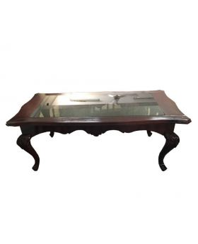 Cedar Glass Top Coffee Table