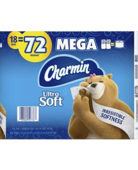 Charmin Ultra Soft Tissue Paper 18 Rolls 264 Sheets