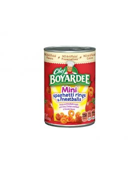Chef Boyardee Mini Spaghetti Rings and Meat Balls 212g