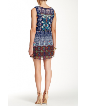 Rear view of the Chiffon Sleeveless Dress