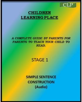 Children Learning Place Simple Sentences -Teach Your Child to Read- Stage 1