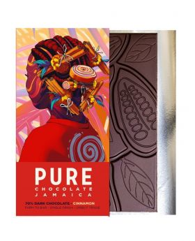 PURE 70% PURE 70% Dark Chocolate with Cinnamon 1.76 oz/50 Grams Each
