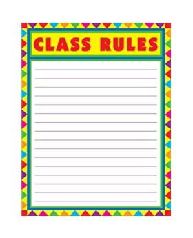 Class Rules Blank Charts