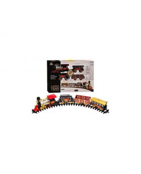 Classic Train - Large 20 Piece Railway Set With Curved Tracks
