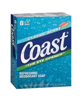 Coast bath bar deodorant soap 8 pack 3.2 OZ bars