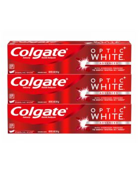 Colgate Sparkling White Optic White Toothpaste 3 Value Pack