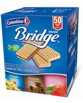 Colombia Bridge Wafer 30g 50 Pack