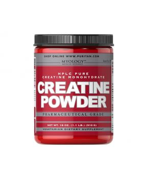 Creatine Powder Puritan's Pride Myology Pharmaceutical Grade 510g