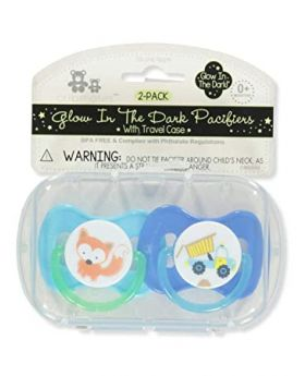 Cribmates 2-Pack Glow-in-The-Dark Pacifiers