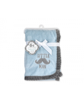 Cribmates Soft Plush Baby Blanket - Little Man