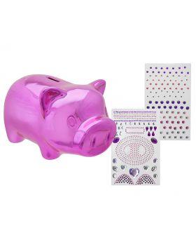 D.I.Y Bling A Piggy Bank