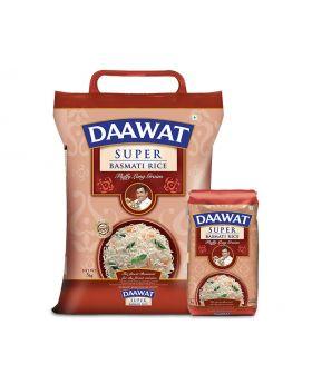 Daawat Super Basmati Rice Fluffy Long Grains 5kg Pack