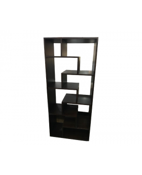 Dark Brown 8 Shelf Design Modern Bookcase Book Rack Display
