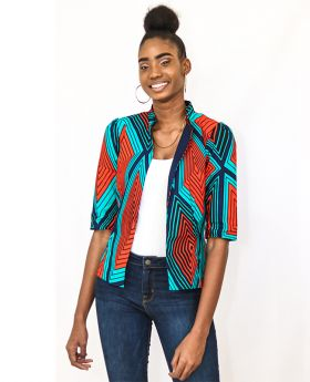 Rhizo Grit Collections Exclusive Ankara Print Jacket