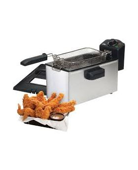 Elite Stainless Steel 3.5 Qt Deep Fryer with Timer