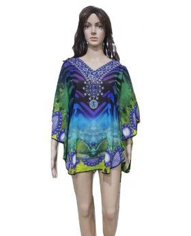 Multipurpose Multicoloured Short Coverup Dresses