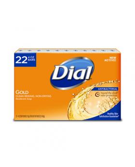 Dial Antibacterial Bar Soap 4 Oz. 22 Pack