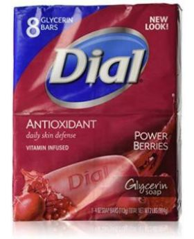 Dial Red Berries Glycerin Bath Bar Soap 8 Pack