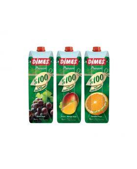 Dimes Premium 100% Juice 1 Litre Variety 3 Pack