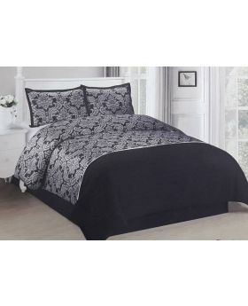 Private Collection 4 Pieces Luxurious Polyester Jacquard  Comforter Set- Dominique