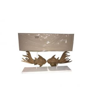 Double fish table lamp