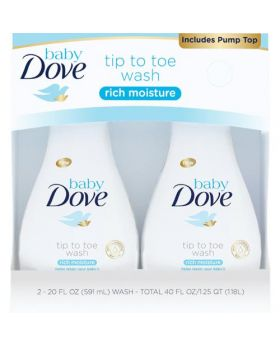Dove Baby Tip to Toe Wash 2 x 20oz