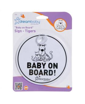 Dream Baby Tiger Baby On Board Sign