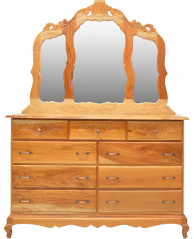 Natural Cedar 9 Drawer Dresser